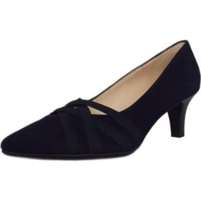 Haissel Notte Suede Kitten Heel Fashionable Pumps