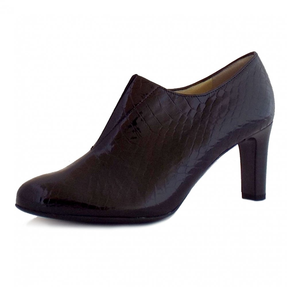 peter kaiser hanara ladies patent leather croc effect shoe boots. Black Bedroom Furniture Sets. Home Design Ideas