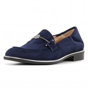 Hanka Stylish Loafer Shoes in Navy Suede