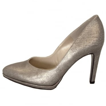 Herdi metallic leather stilettos