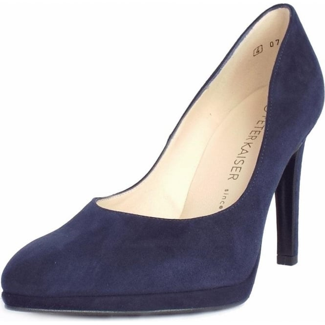 Herdi Notte Navy Suede Stiletto Pumps