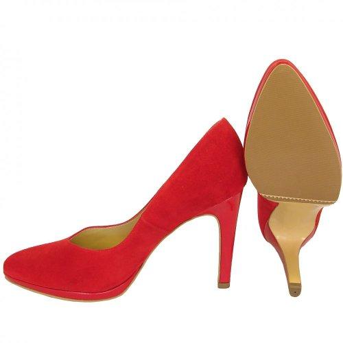 peter kaiser herdi spring summer 2013 red suede high heel court shoes. Black Bedroom Furniture Sets. Home Design Ideas