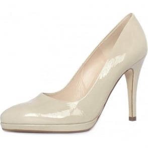 Hertha Lana Crackle Patent Stiletto Pumps