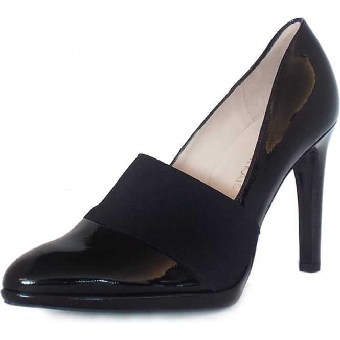 Horta Black Crackle Patent Stilettos Pumps