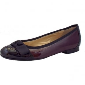 Idria Ballet Pump in Burgundy and Black