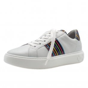 Ilena Leather Modern Sneakers in White Multi