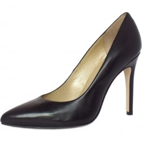 Indigo High Heel Shoes in Black Leather