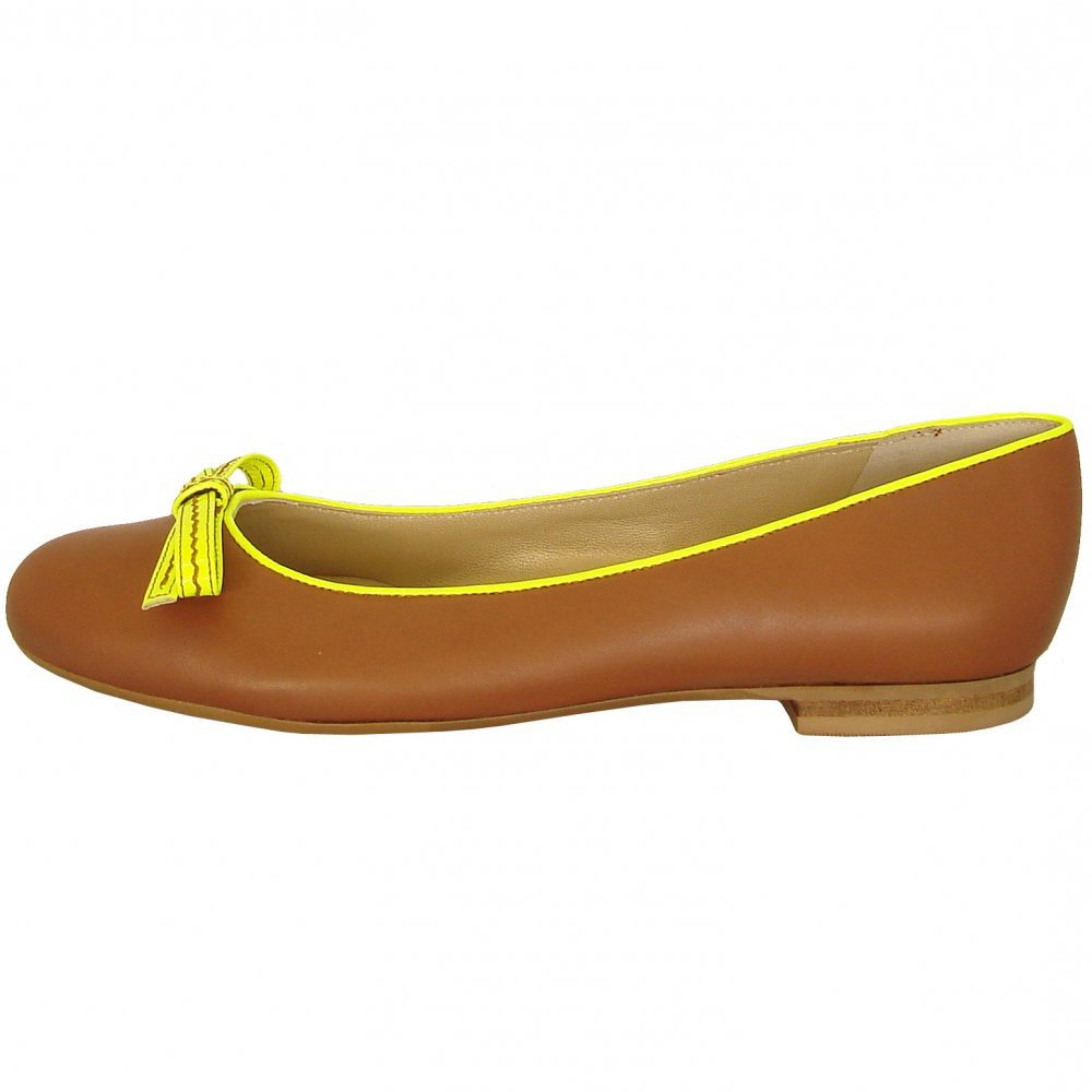 Peter Kaiser Ines | Brandy leatehr and neon yellow patent ...