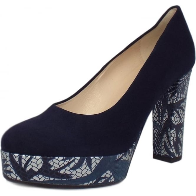 Irmgard Notte Suede Block Heel Fashionable Pumps