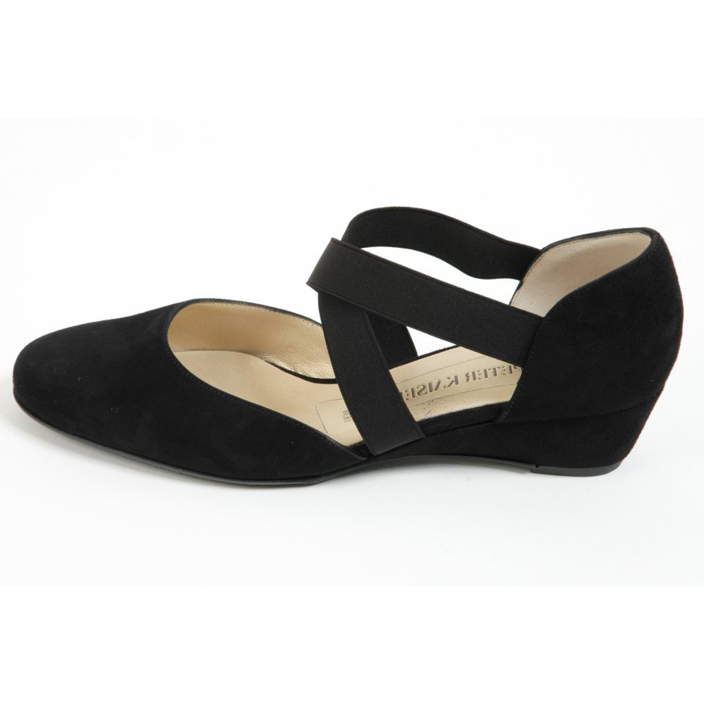 Black Over Cross Wedge Jaila Suede Shoes Low qGSzVUMp