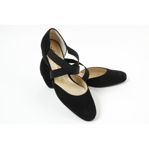 afacaf26599 ... Jaila black suede cross over low wedge shoes ...