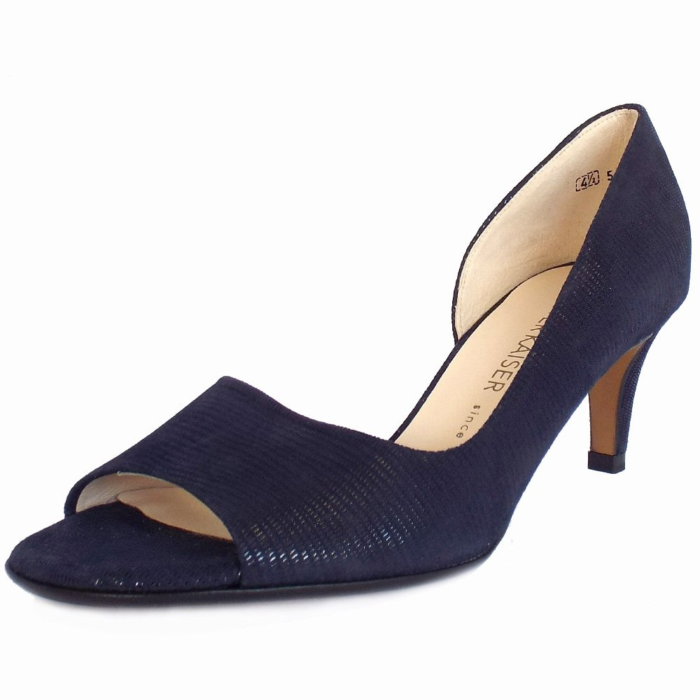 Lizard Open Navy Suede Peter Heel UkJamala Pumps Kaiser Mid mv8Oy0wNn