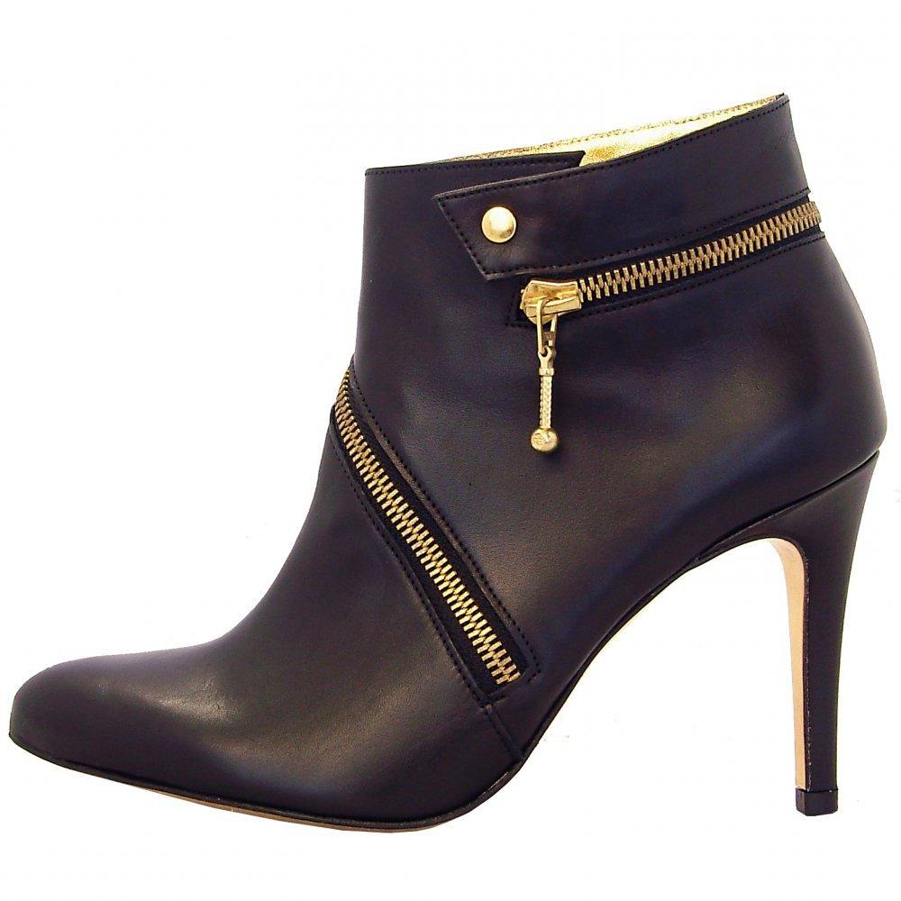kaiser kailee black nappa leather stiletto heel