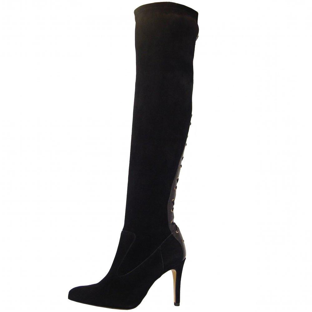 peter kaiser c 39 east tout kamen black over the knee stretch boots. Black Bedroom Furniture Sets. Home Design Ideas