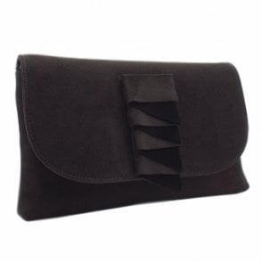 Karla Stylish Clutch Bag in Carbon Suede
