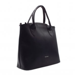 Kirima Classic Leather Handbag in Black