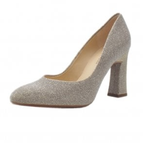 Klara stylish Sand Shimmer Pumps