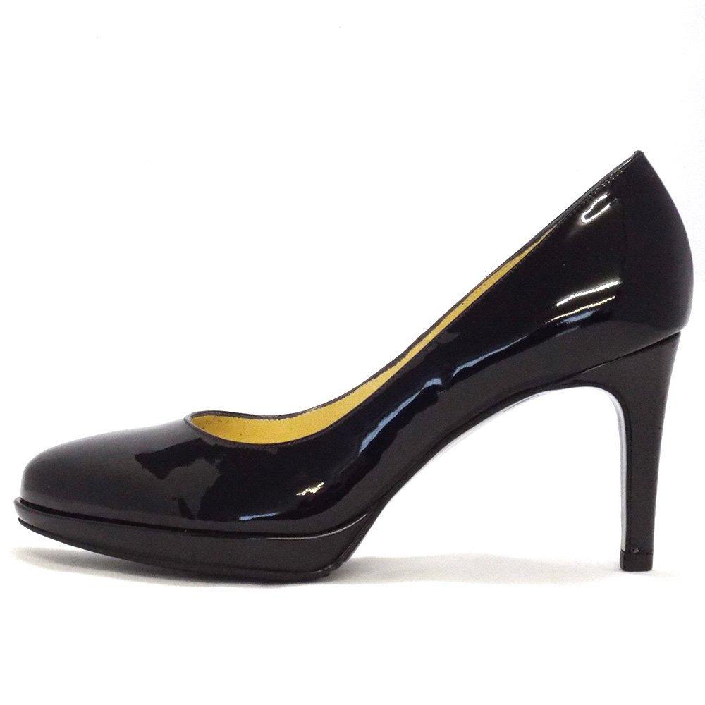 kaiser konia black patent court shoe 79811 010
