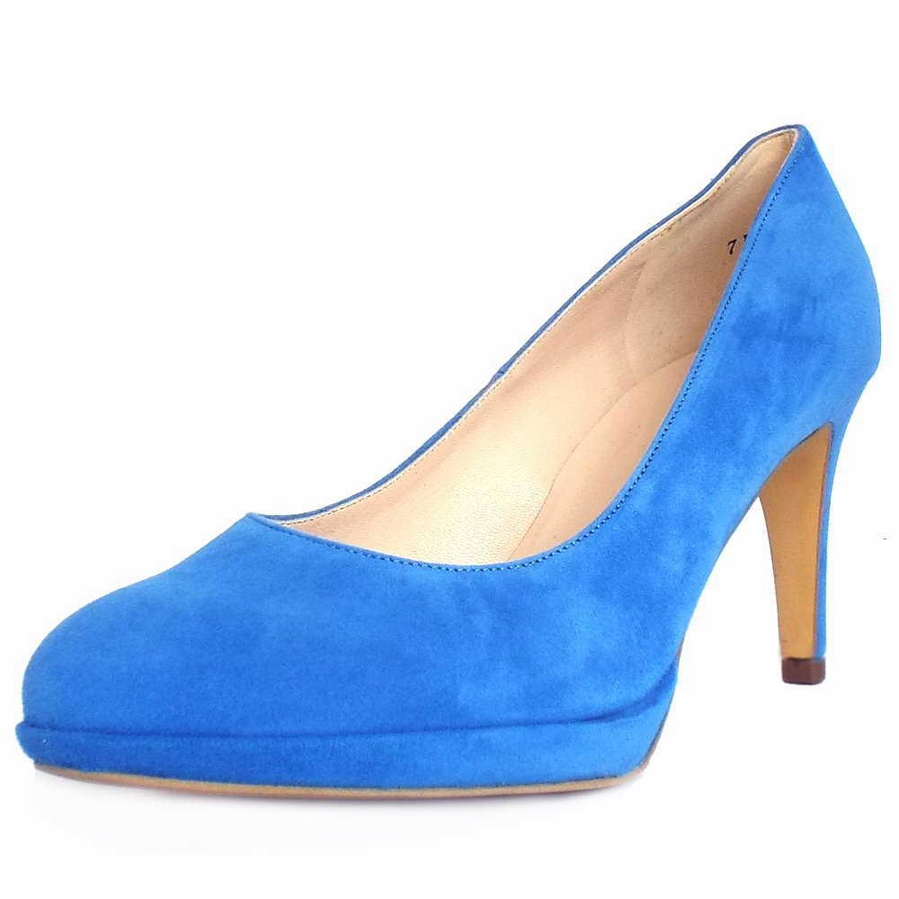 Blue Heel Pumps