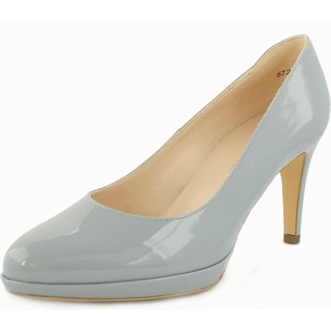 Konia Ice Vit Blue Patent Mid Heel Pumps