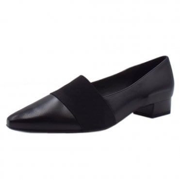 Lagos Black Glove Pointy Toe Low Heel Shoes