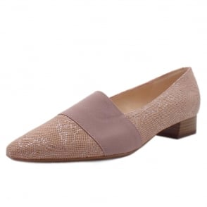 Lagos Rose Tiles Leather Pointy Toe Low Heel Shoes