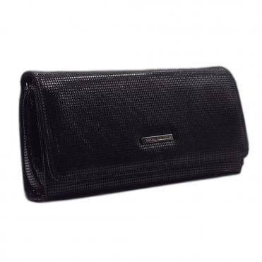 Lanelle Black Pepita Stylish Clutch Bag