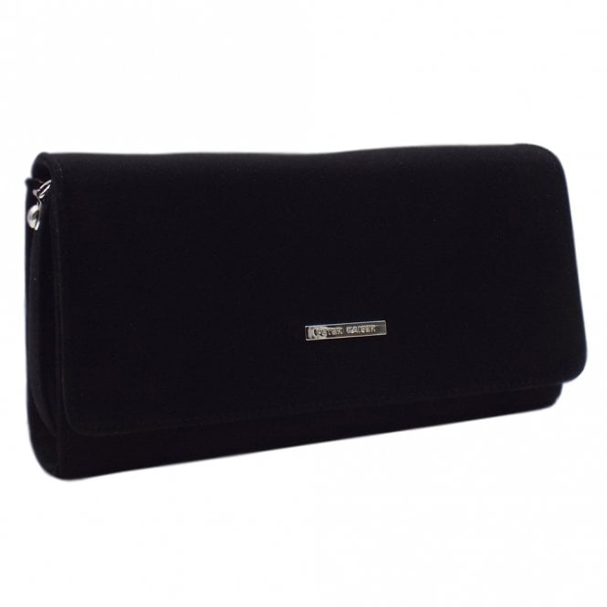 Lanelle Black Suede Stylish Clutch Bag