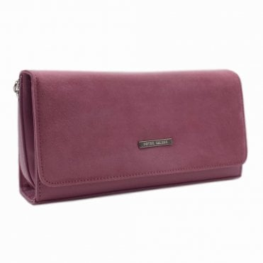 Lanelle Cassis Suede Stylish Clutch Bag