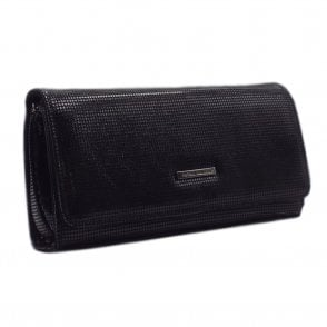 Lanelle Clutch Bag In Black Pepita