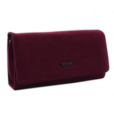 Lanelle Clutch Bag In Jam Suede