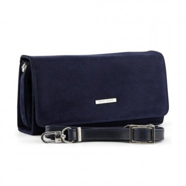 Lanelle Navy Suede Stylish Clutch Bag