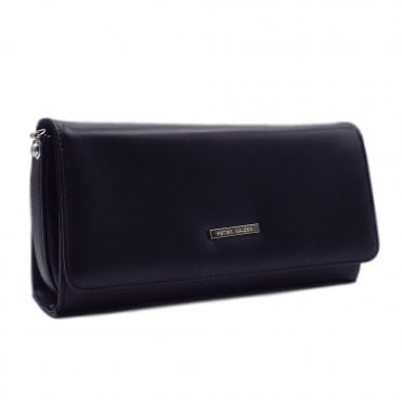 Lanelle Notte Chevro Leather Clutch Bag