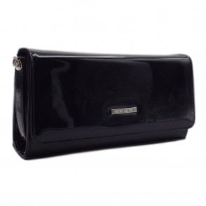 Lanelle Notte Mura Patent Leather Clutch Bag