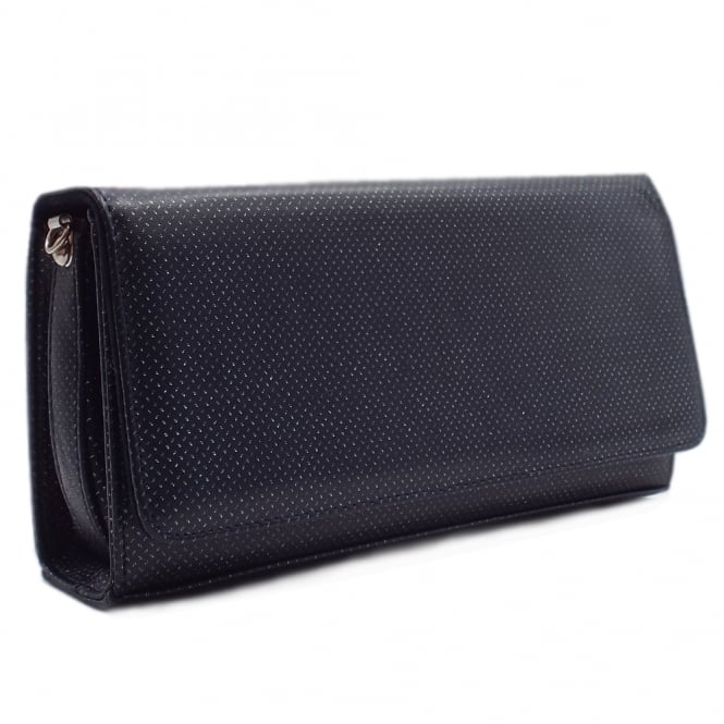 Lanelle Notte Pin Leather Clutch Bag