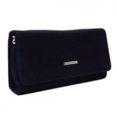 Lanelle Notte Suede Stylish Clutch Bag