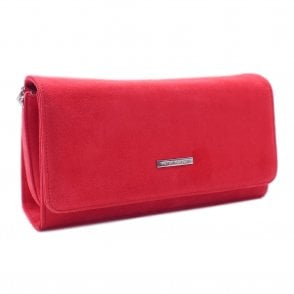 Lanelle Sharon Pink Suede Stylish Clutch Bag