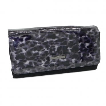 Peter Kaiser Lanelle Stylish Clutch Bag In Black Suede Iron Topaso
