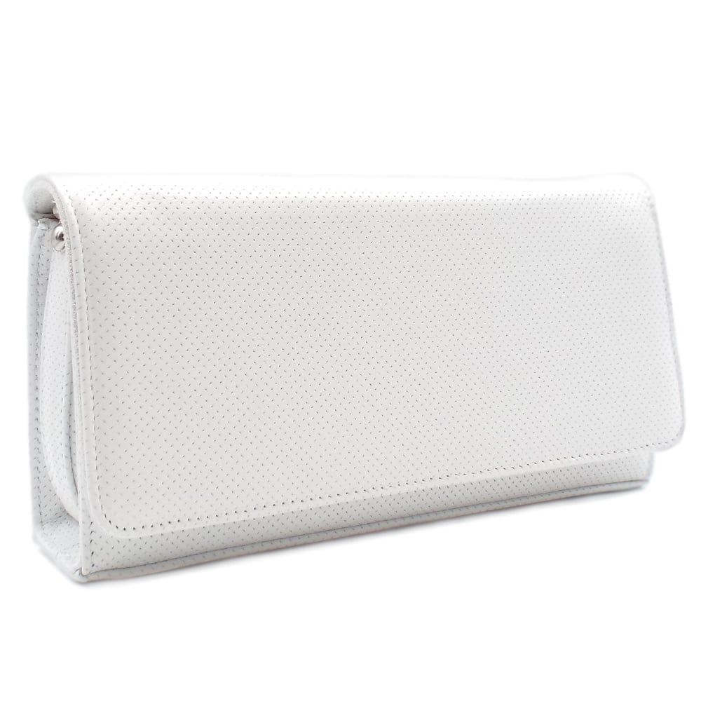 Peter Kaiser UK | Lanelle White Pin Leather Clutch