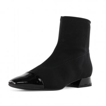 Peter Kaiser Leanna Pull On Stretch Sock Boots in Black