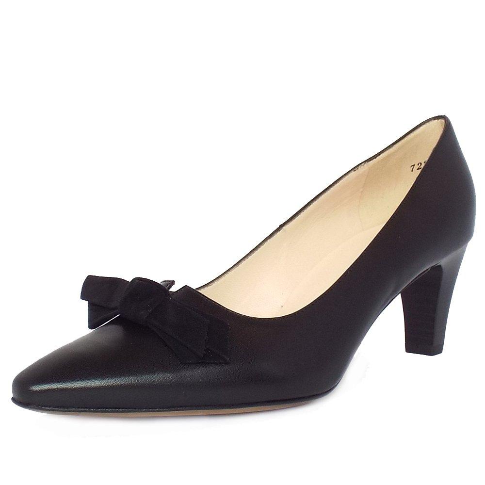Black Cut Out Court Shoes