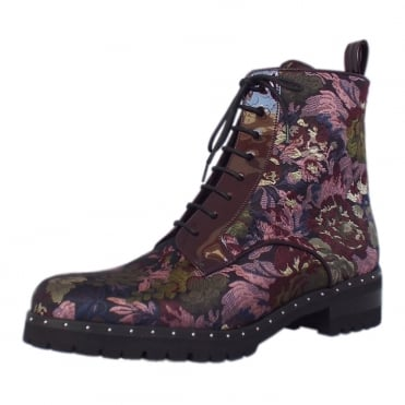 Lesatella Multi Flower Fabric Short Boots