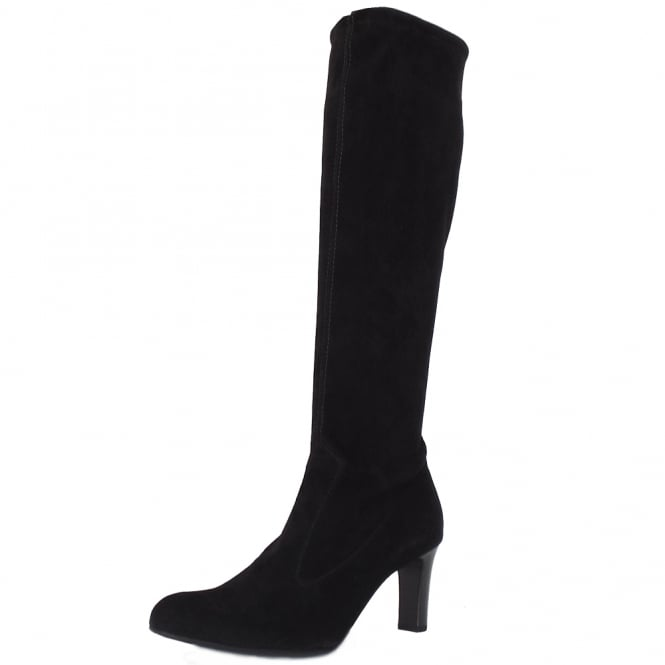 kaiser levke black stretch suede boots