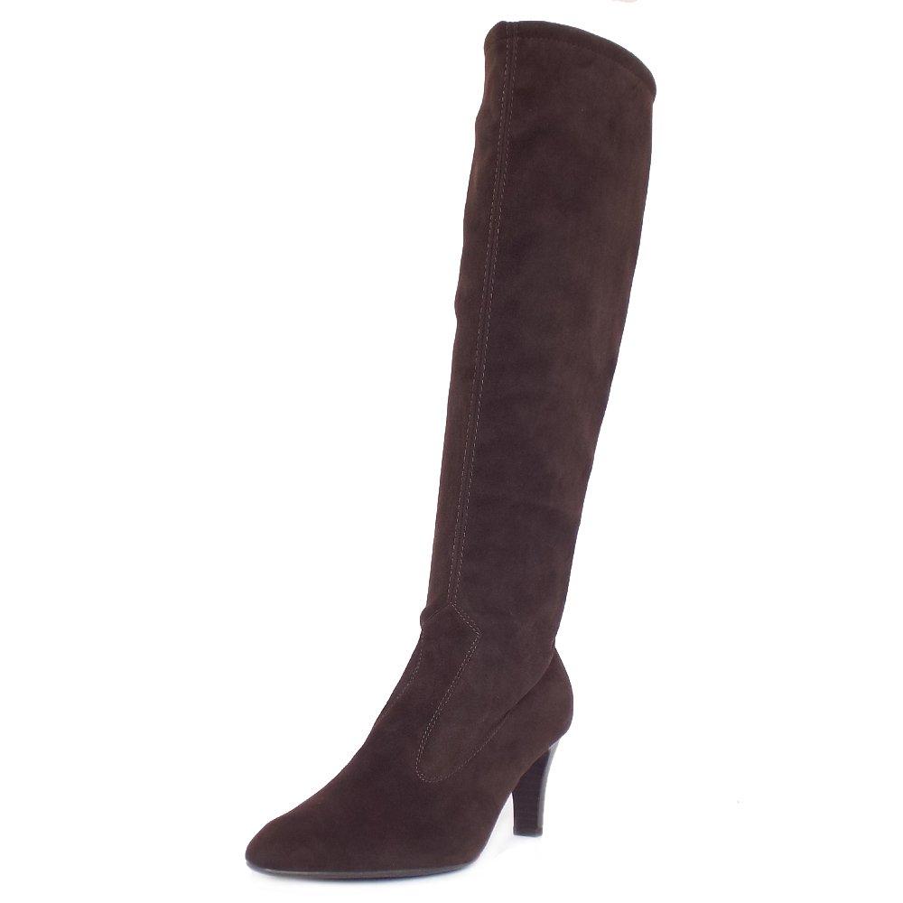 kaiser levke brown stretch suede boots