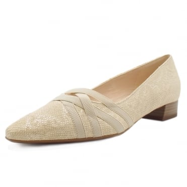 Liesel Low Heel Shoes in Sand Tiles