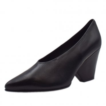 Lijana Stylish Wedge Court Shoes in Black Glove
