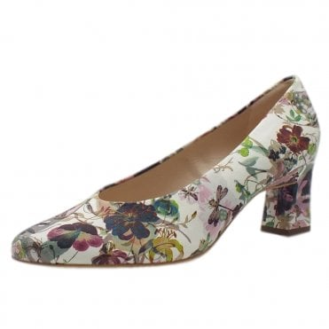 Lipana Classic Mid Heel Court Shoes in Multi Flower