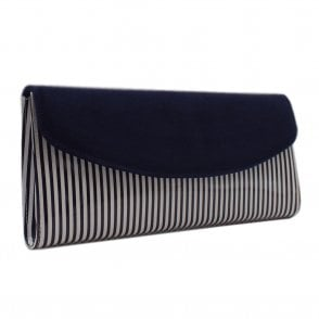Liv Notte Lines Leather Clutch