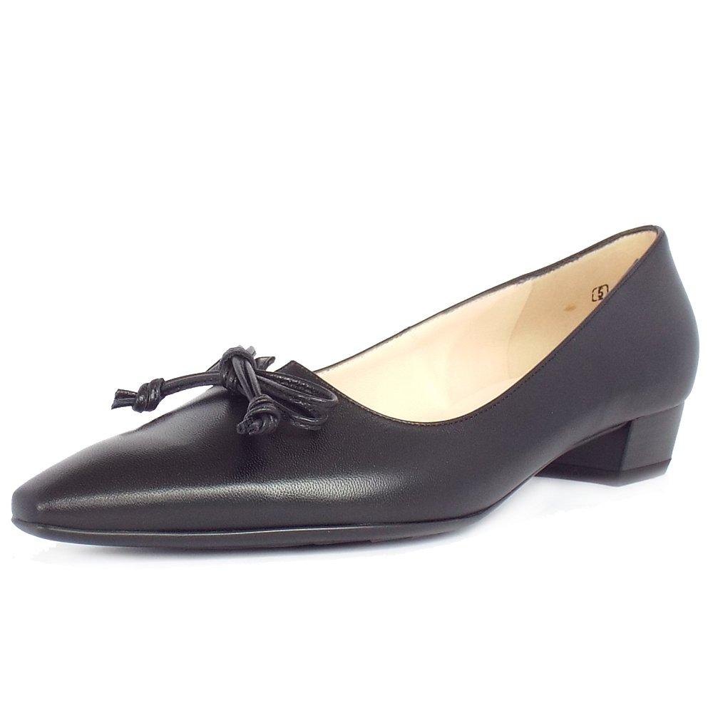 peter kaiser uk lizzy black leather ladies pointed toe. Black Bedroom Furniture Sets. Home Design Ideas