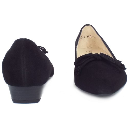241921a715f4 ... Lizzy Black Suede Low Heel Pointed Toe Pumps ...